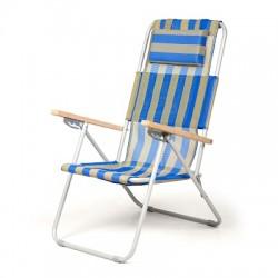 Кресло-шезлонг Ясень синий