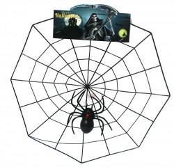 Декор Паутина с пауком пластик