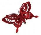 Украшение декоративная клипса Бабочка красная