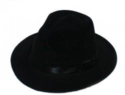 Шляпа Мужская фетровая чёрная