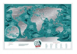 Скретч карта мира Travel Map Marine World
