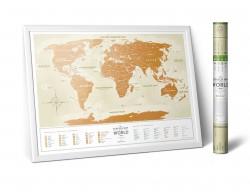 Скретч карта мира Travel Map Gold World на украинском языке