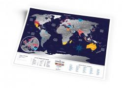 Скретч карта мира Travel Map Holiday World
