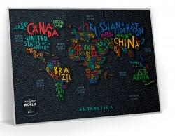 Скретч карта мира Travel Map LETTERS World