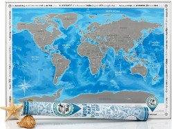 Скретч карта Discovery Map World Silver на английском языке