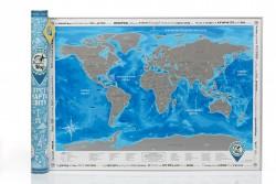 Скретч карта Discovery Map World Silver на украинском языке