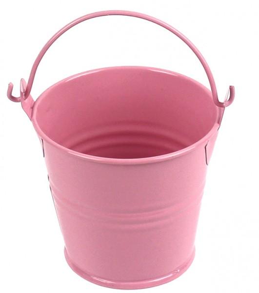 Среднее цветное ведерко 7см розовое