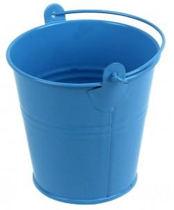 Декоративное цветное ведерко 5см голубое