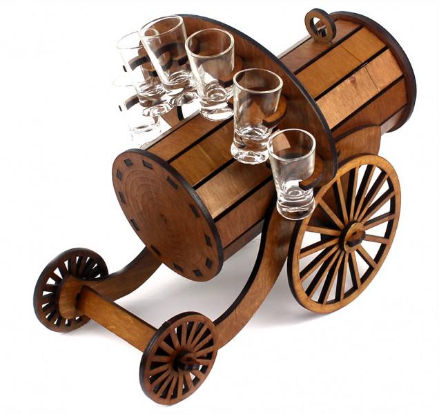 Мини бар Пулемет Максима с рюмкам