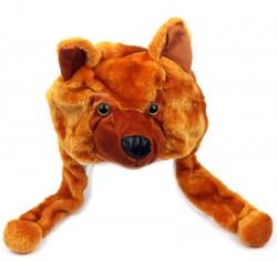 Шапка Собаки коричневая