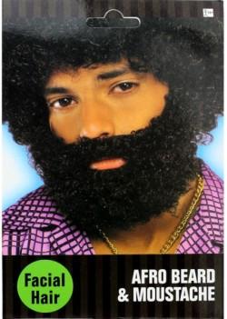 Борода с усами черная
