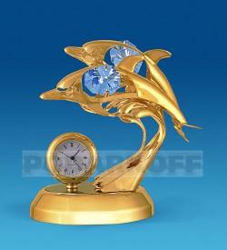 """Фигурка с часами """"Дельфины"""""""