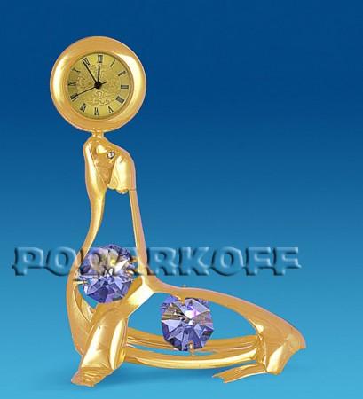"""Фигурка с часами """"Морской котик"""" с цв.кр."""