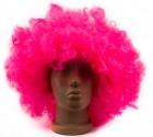 Парик кучерявый пышный розовый