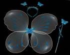 Набор бабочки бело-голубой
