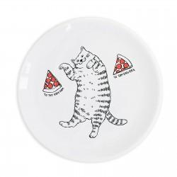 "Тарелка ""Кот с пиццей"""