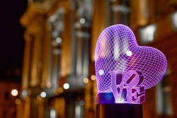 "3D светильник ""Сердце LOVE"""