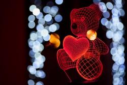"""Лампа светодиодная """"Мишка с сердцем"""""""