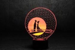 """Лампа с эффектом трехмерного изображения """"Мост влюбленных"""""""