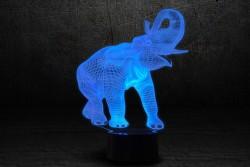 """3D светильник """"Слон"""""""
