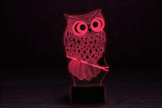 """3D Лампа """"Сова"""""""