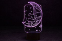 "3D Ночник ""Мишка на луне"""