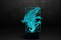"""3D светильник ночник """"Морской конек"""""""