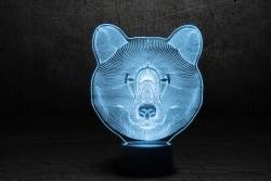 """3D ночник """"Медведь"""""""