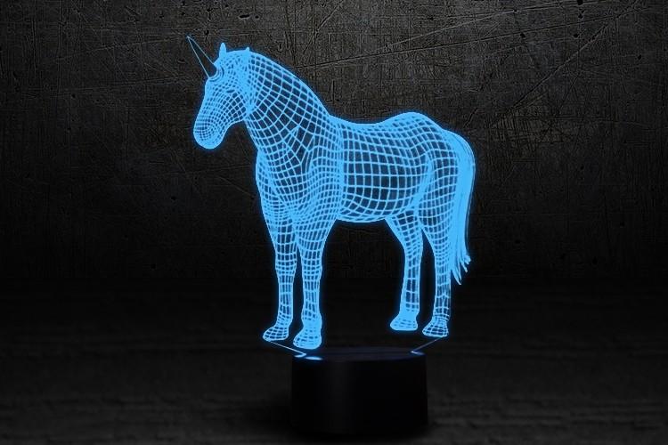 """3D светильник ночник """"Единорог"""""""