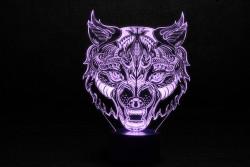 """3D Ночник светодиодный """"Волк - 2"""""""