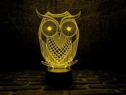 """3D светильник """"Сова - 2"""""""