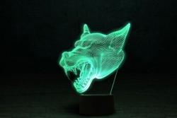 """3D ночник """"Волк 3"""""""