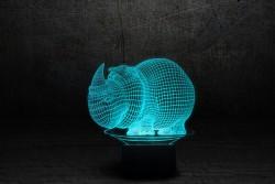 """3D лампа """"Носорог"""""""