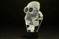"""3D светильник подарок для ребенка """"Миньон военный"""""""
