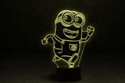 """3D Яркий светильник с эффектом трехмерного изображения """"Миньон"""""""