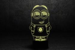 "3D Яркий светильник ""Миньон 2"""