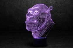 """3D Оригинальная LED-лампа """"Шрек"""""""