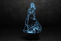 "3D Лампа светодиодная ""Золушка"""