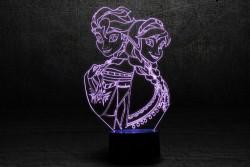 """3D светильник """"Холодное сердце"""""""