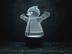 """3D светильник """"Снеговик"""""""