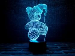 """3D светильник """"Мишка (новогодний)"""""""