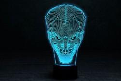 """Яркий светильник с эффектом трехмерного изображения """"Джокер"""""""