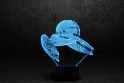 """Яркий светильникй с эффектом трехмерного изображения""""Космический корабль 2"""""""