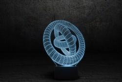 """3D светильник """"Кольца"""""""