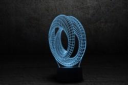 """3D лампа """"Лента Мебиуса 3"""""""