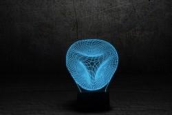 """Светильник 3D с сенсорной панелью 7 цветов """"Иллюзия"""""""