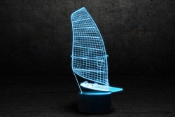 3D светильник в виде Парусника