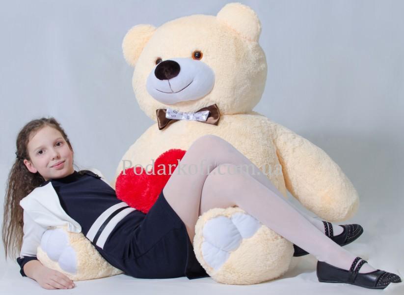 Плюшевый медведь бежевый 160см