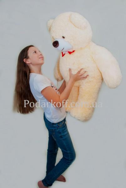 Плюшевый медведь бежевый 85см