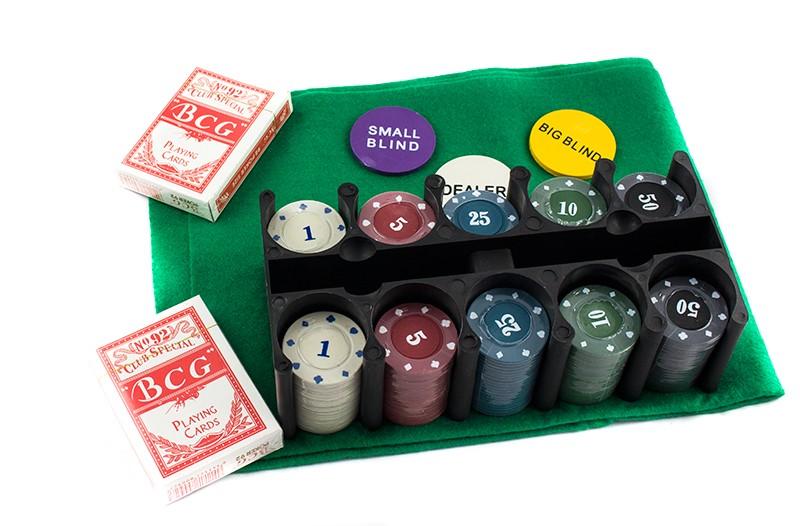 Набор для покера Texas Holdem Poker Set на 200 фишек с номиналом